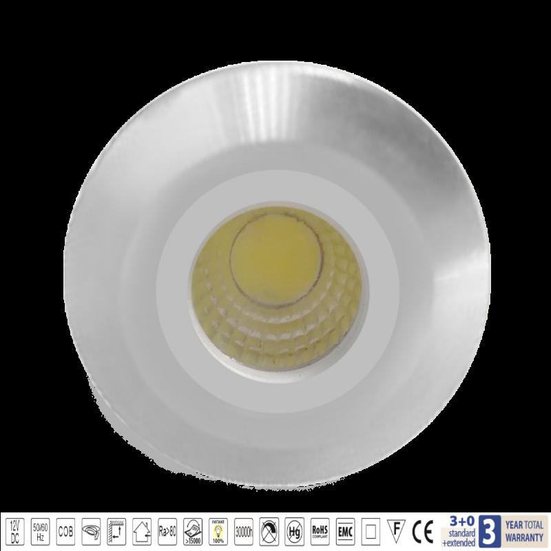 Spot mini LED 3W 2700-3000K Satin Nichel