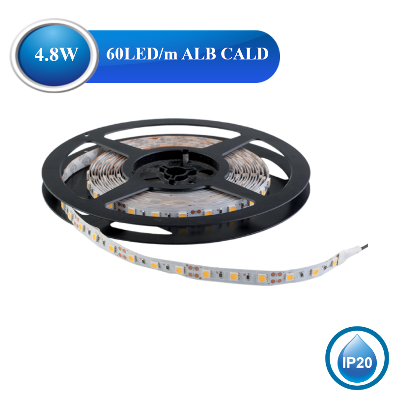 Banda LED 4,8W IP20 Alb Cald