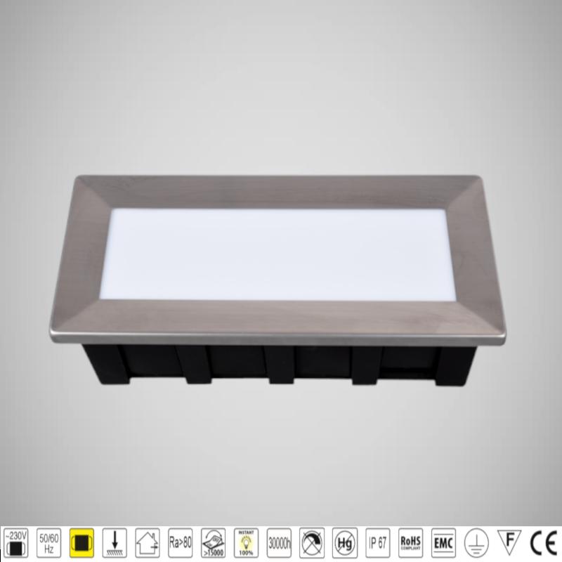 Lampa LED de perete 1,5W Montaj incastrat