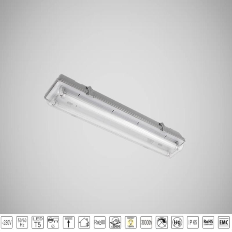 Corp LED Iluminat Industrial T5 2X10W 4000K IP65