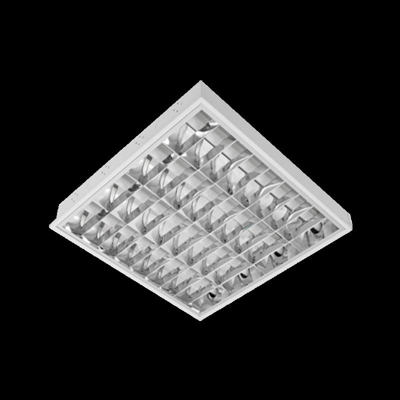 Corp de iluminat cu tuburi LED(600mm) 4X9W 6200K BM 595/595 Cu Kit de Emergenta