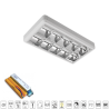 Corp de iluminat cu tuburi LED(600mm) 2X9W 6200K OM 300/600 Cu Kit de Emergenta