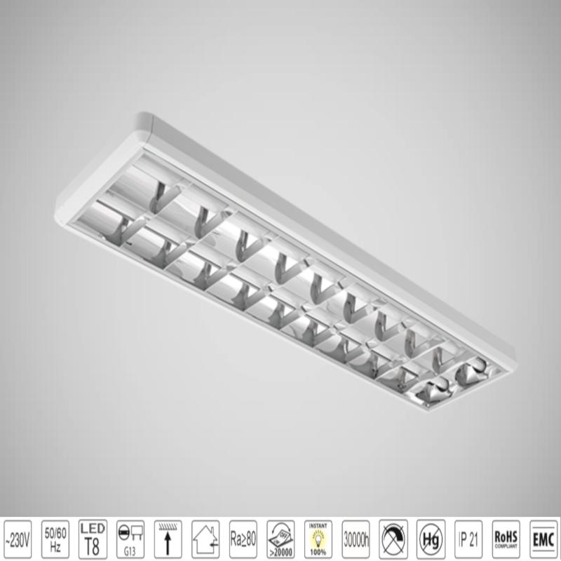 Corp de iluminat cu tuburi LED TUBE(1200mm) 2X18W 4000K OM 1200/300