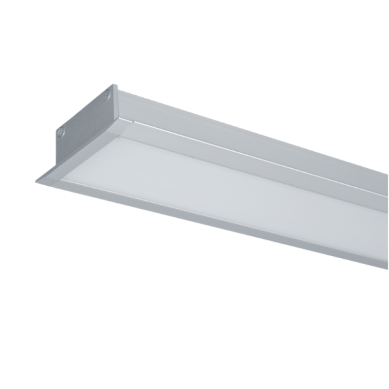 Profil LED Incastrat S48 32W 4000K 1500MM GRI