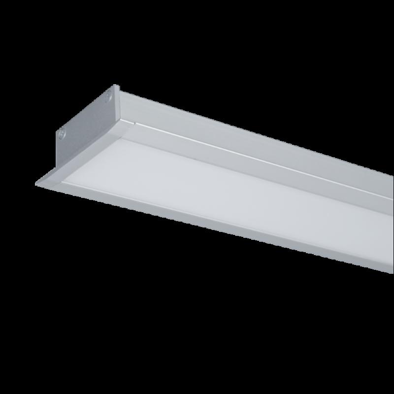 Profil LED Incastrat S48 24W 4000K 1200MM GRI