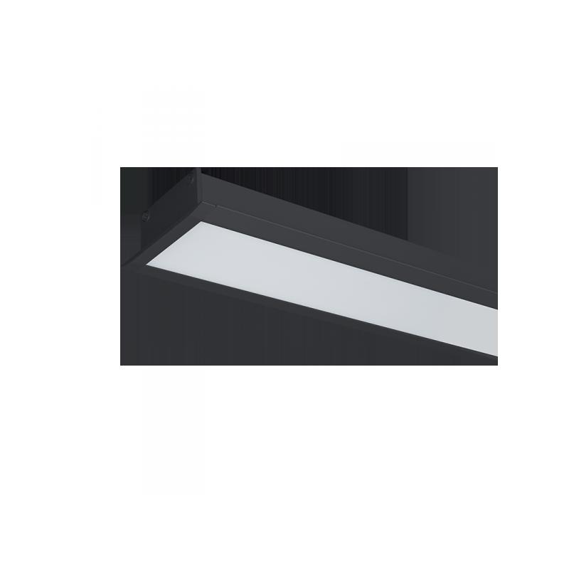 Profil LED Incastrat 48W 4000K 1200mm NEGRU