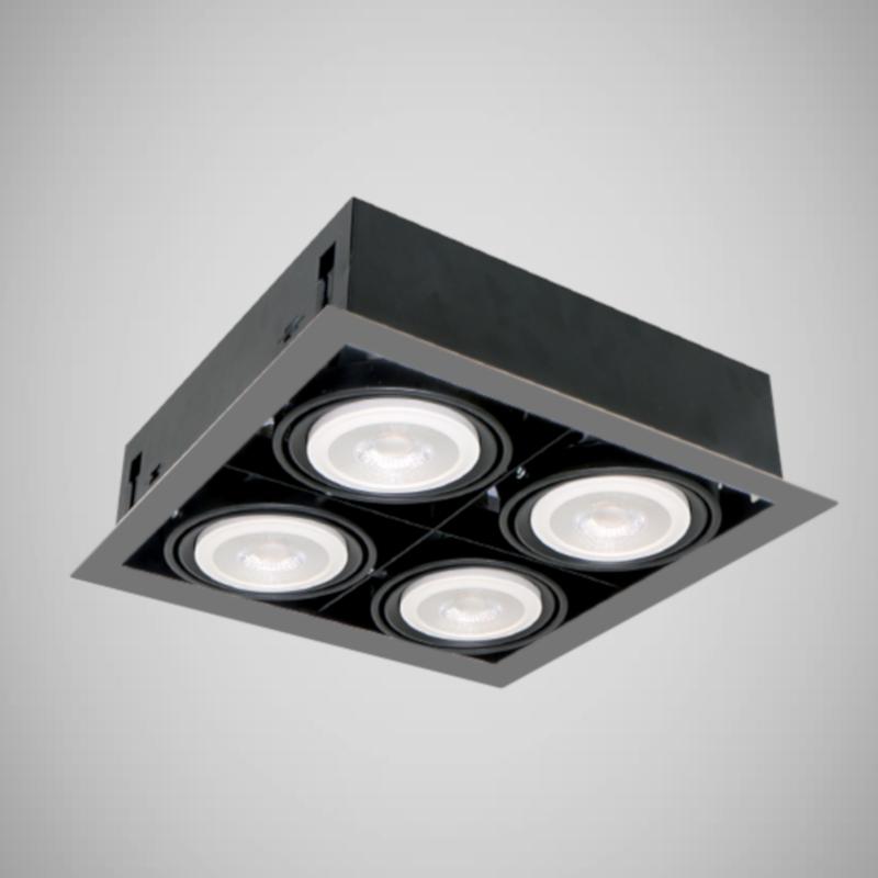 Spoturi LED Magazin Incastrabile 12W 4XE27 4000K Alb Natural
