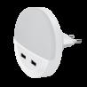 Lampa de veghe LED 2*USB 0.5W 4000K