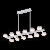Lustra living LED Azzar 108W/ 3000K Alb Mat