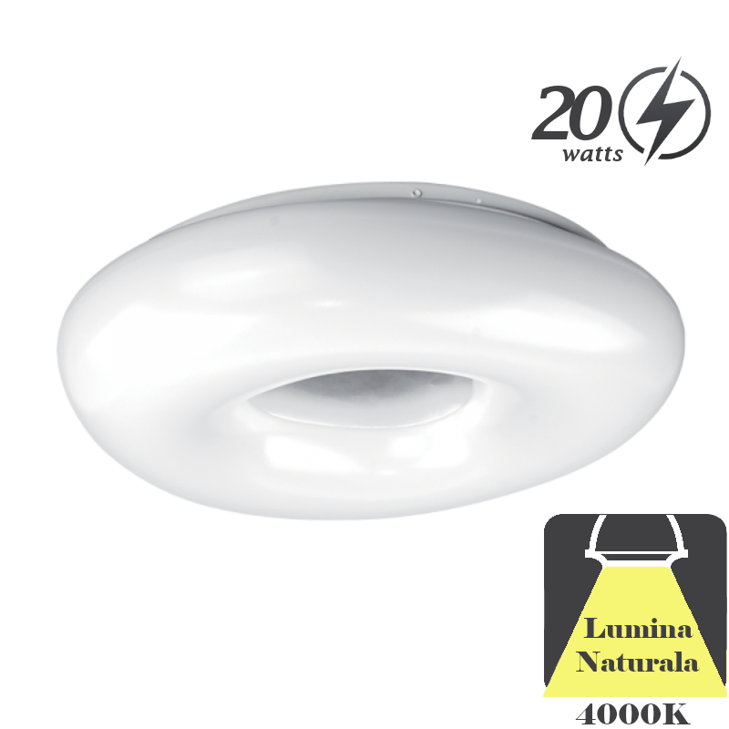 Plafoniera LED 20W Lumina Neutra D285mm