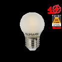 Bec LED cu filament 4W E27 Alb Cald Dispersor Mat