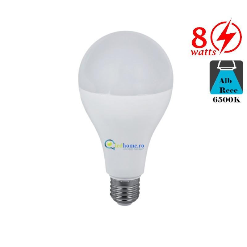 Bec LED 8W E27 Alb Rece