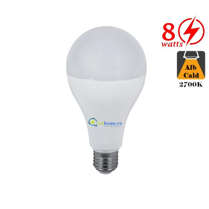 Bec LED 8W E27 Alb Cald