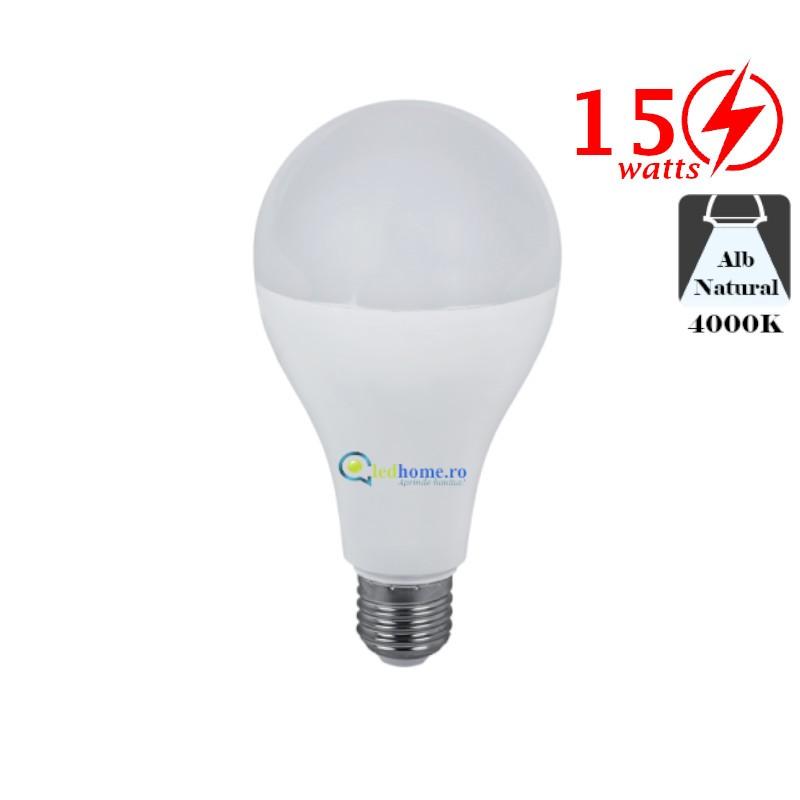 Bec LED 15W E27 Alb Neutru