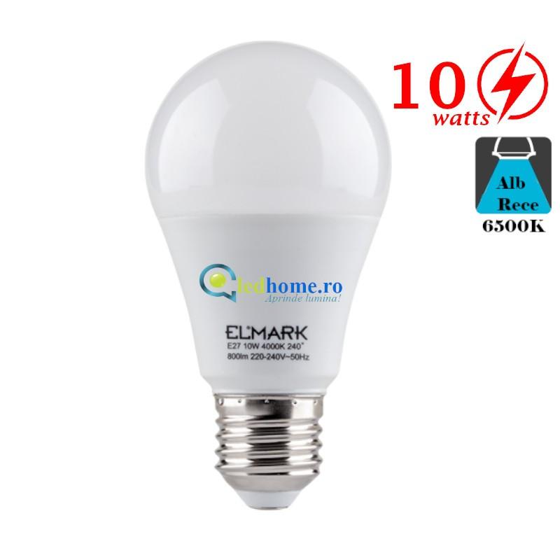 Bec LED 10W E27 Alb Rece