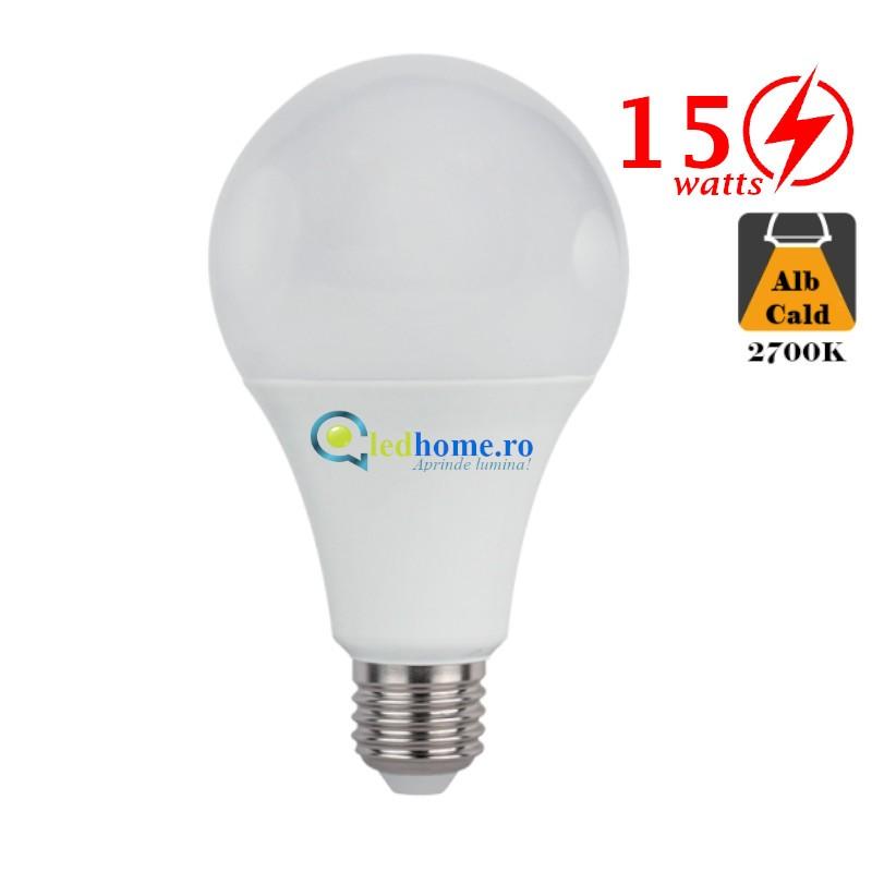 Bec LED 15W E27 Alb Cald