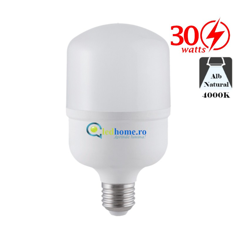 Bec LED 30W E27 Alb Neutru