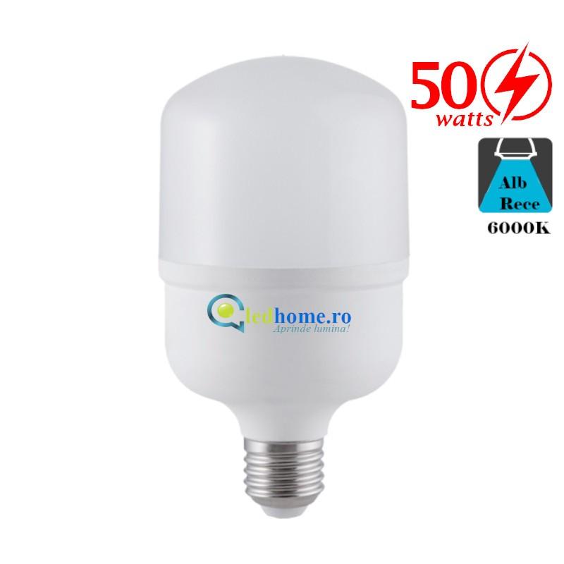 Bec LED 50W E27 Alb Rece