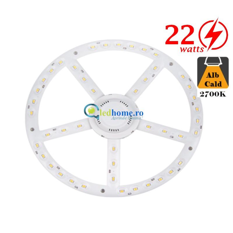 Modul LED pentru aplice D270mm 22W Alb Cald-3000K