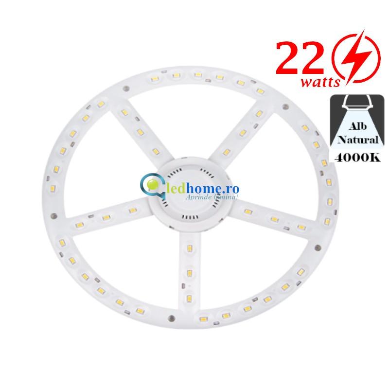 Modul LED pentru plafoniere D270mm 22W Alb Neutru