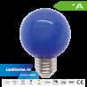 Set 10 Becuri LED tip Glob 3W E27 Albastru