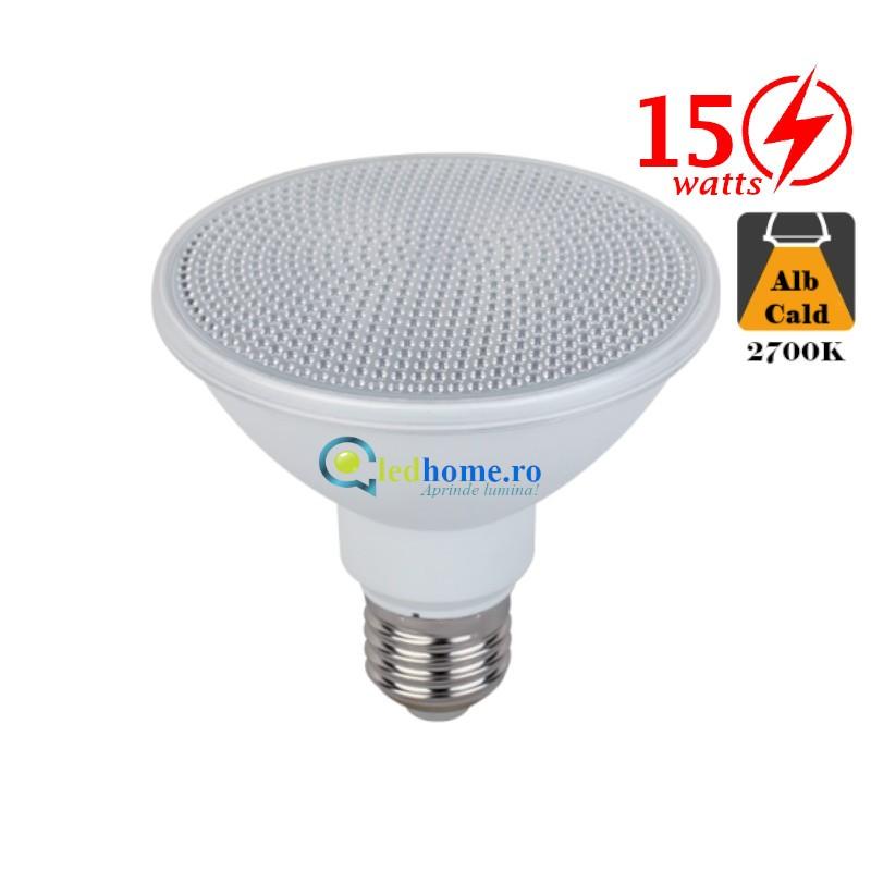 Bec LED Par30 15W E27 Alb Cald