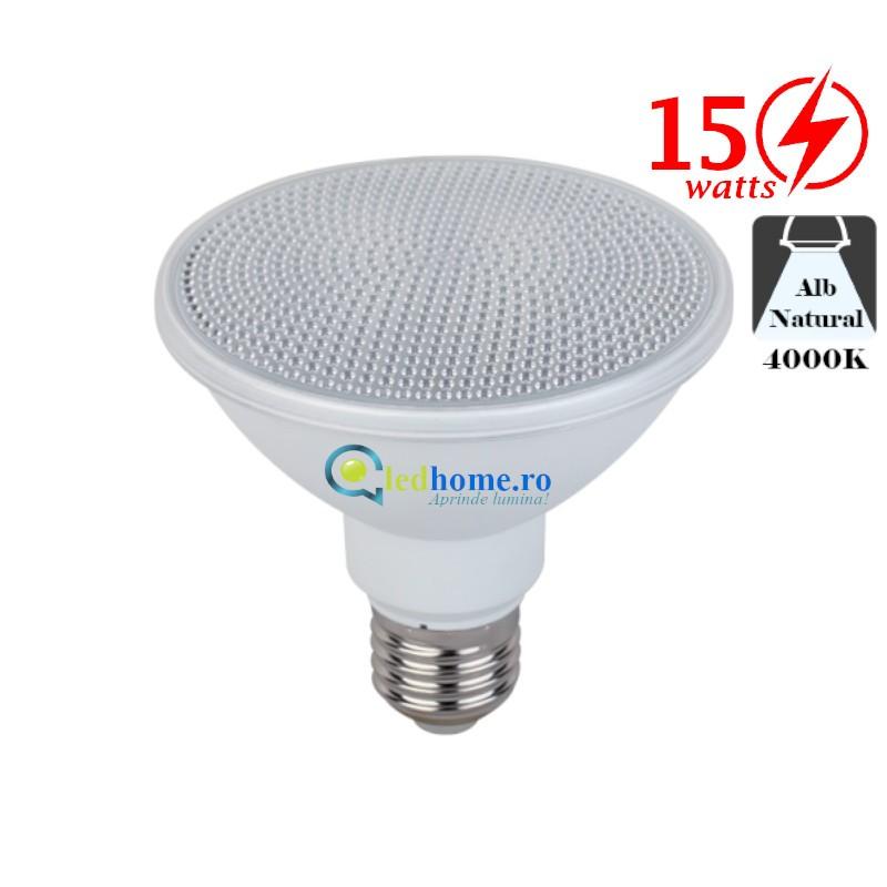 Bec LED Par30 15W E27 Alb Neutru