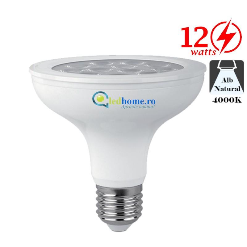 Bec LED Par30 12W E27 Alb Neutru