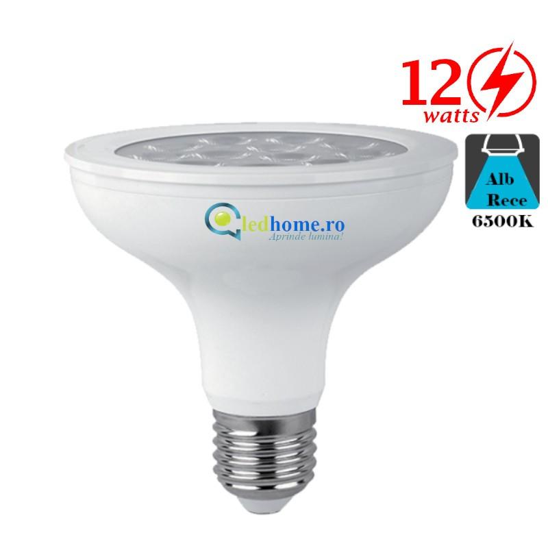 Bec LED COB 12W E27 Alb Rece