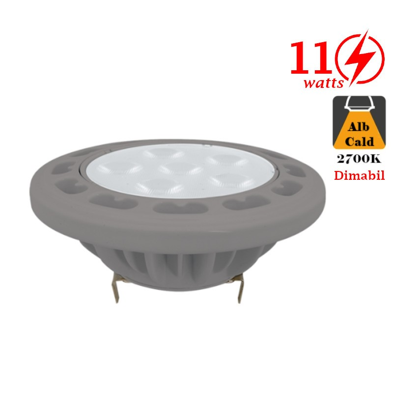 Bec LED Dimabil 11W G53 12V AC/DC Alb Rece