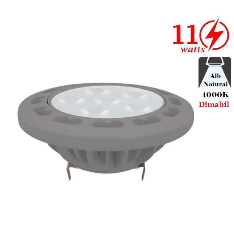 Bec LED Dimabil 11W G53 12V AC/DC Alb Cald