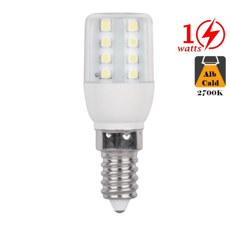 Bec cu LED 1W E14 Alb Cald