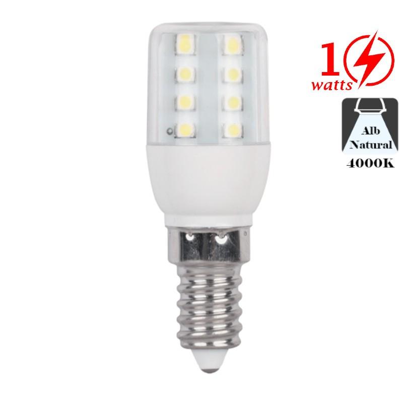 Bec cu LED 1W E14 Alb Rece