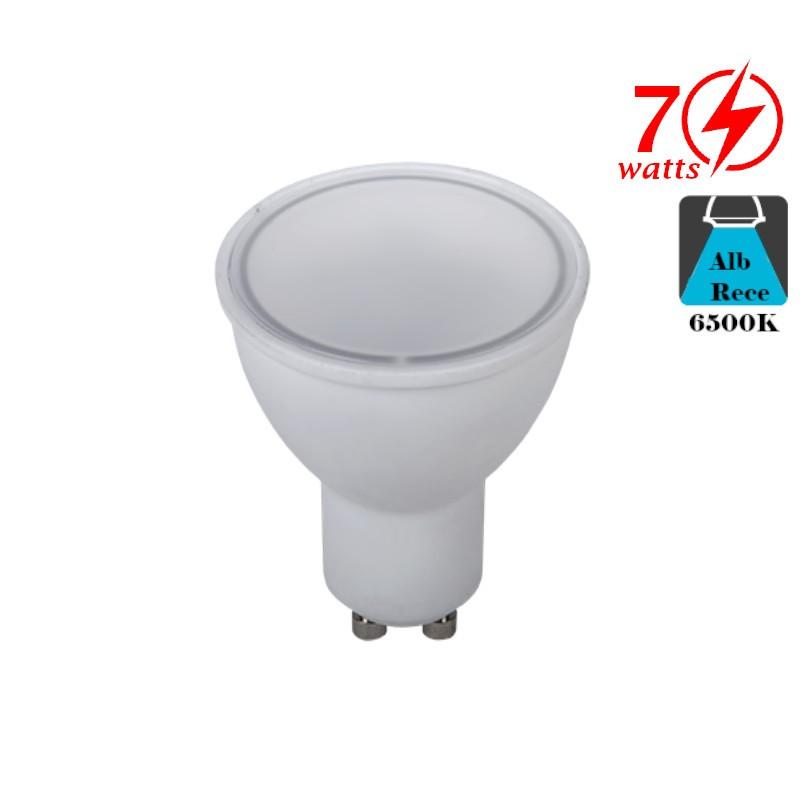 Bec LED Spot 7W GU10 Alb Rece