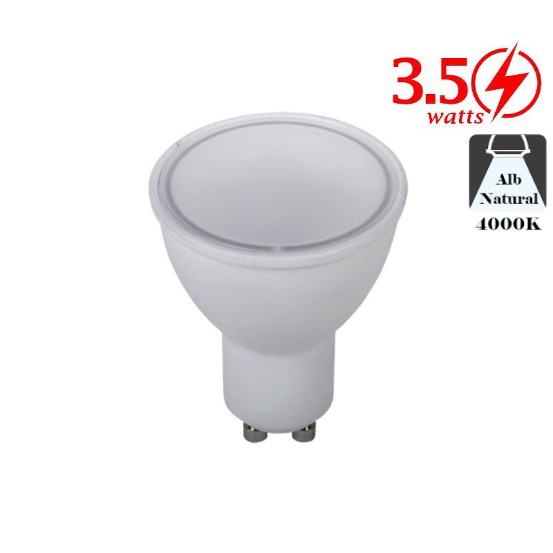 Bec LED Spot 3,5W GU10 Alb Neutru