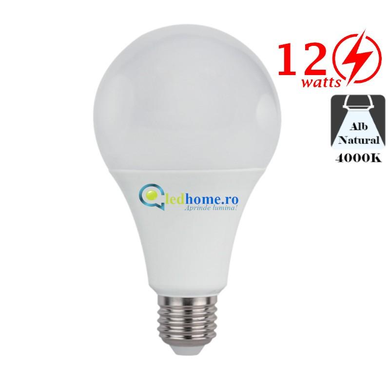 Bec LED 12W E27 Alb Neutru