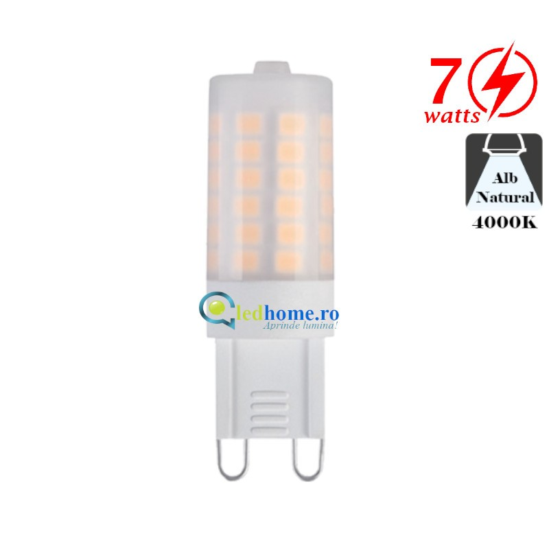 Bec LED G9 7W G9 Alb Neutru