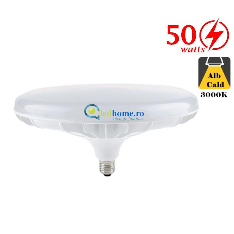 Bec LED 50W Dulie E27 3000K D160mm