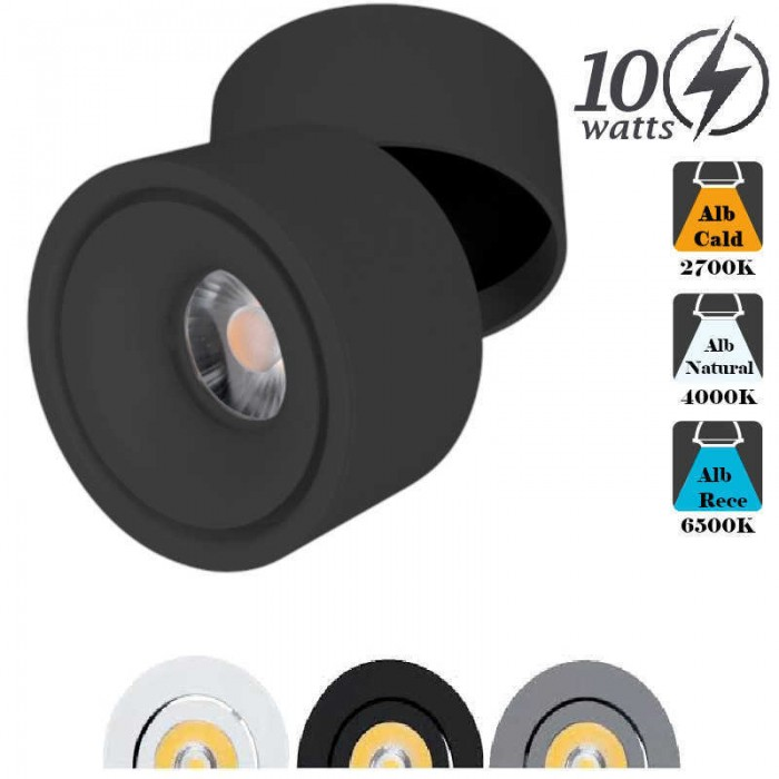 Spot LED Aplicat 10W Orientabil
