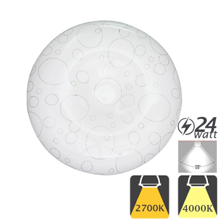 Aplica cu LED de Tavan 24W Moderna