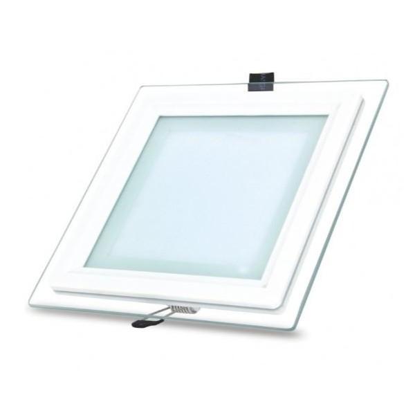 Spot LED Patrat 18W cu sticla