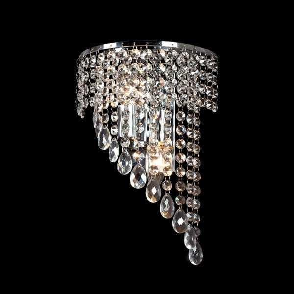 Lampa de perete Cristal INNA 2XE14 Crom