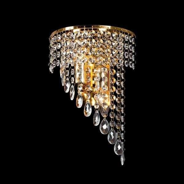 Lampa de perete Cristal INNA 2XE14 GOLD