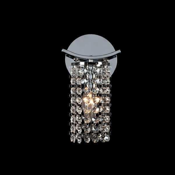 Lampa de perete cu cristale 1XE14 Crom