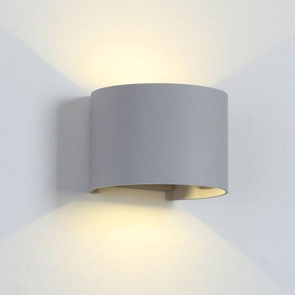 Aplica perete exterior LED 2X5W Gri