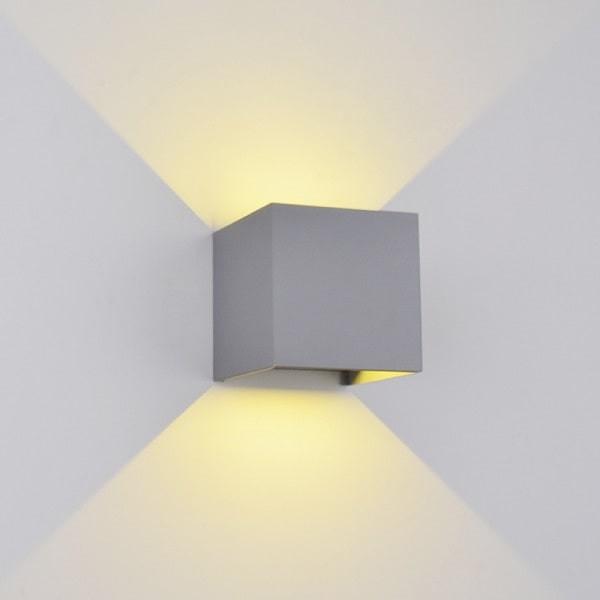 Aplica LED perete exterior 2X5W Gri
