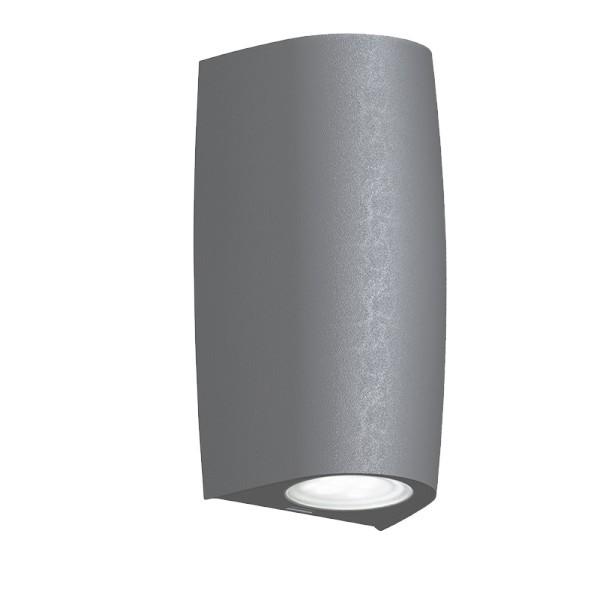 Lampa de perete exterior 1x3.5W dulie GU10 Gri