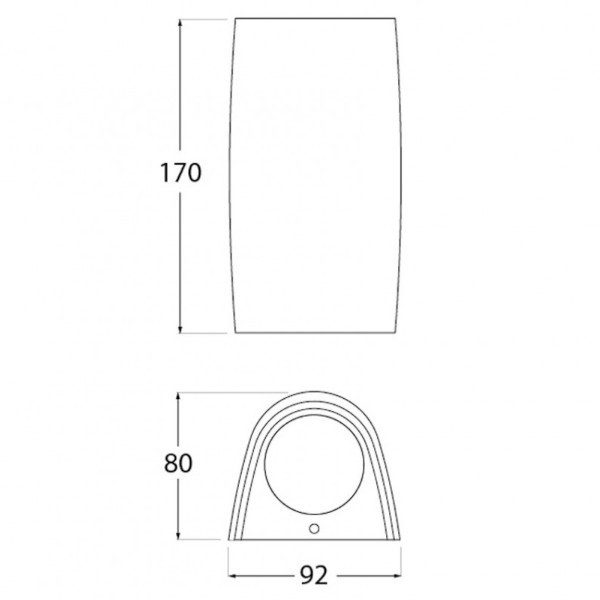 Lampa de perete exterior 2x3.5W dulie GU10 Negru