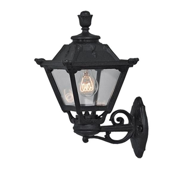 Lampa de perete exterior 1XE27 IP55 Negru