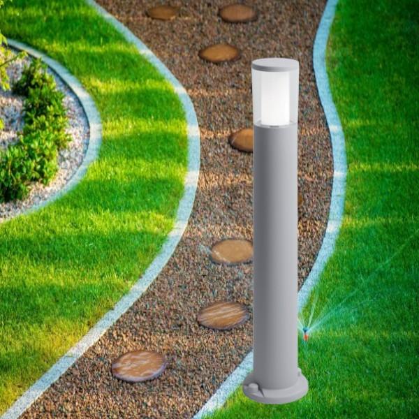 Stalp Iluminat Gradina LED 3.5W Lumina Neutra IP55 80 cm Gri
